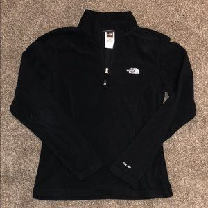 North Face black fleece pullover small